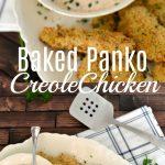 Crispy Baked Creole Panko Chicken tenders