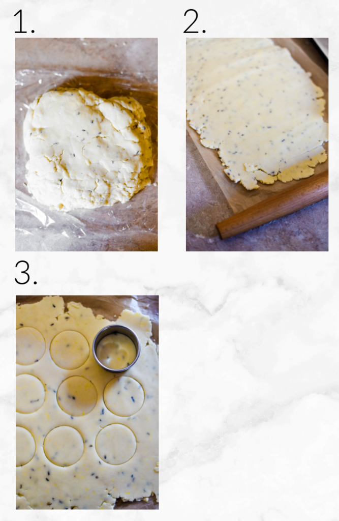 collage showing steps to bake cookies