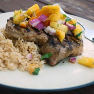 Spiced Pork with Pineapple Salsa Recipe