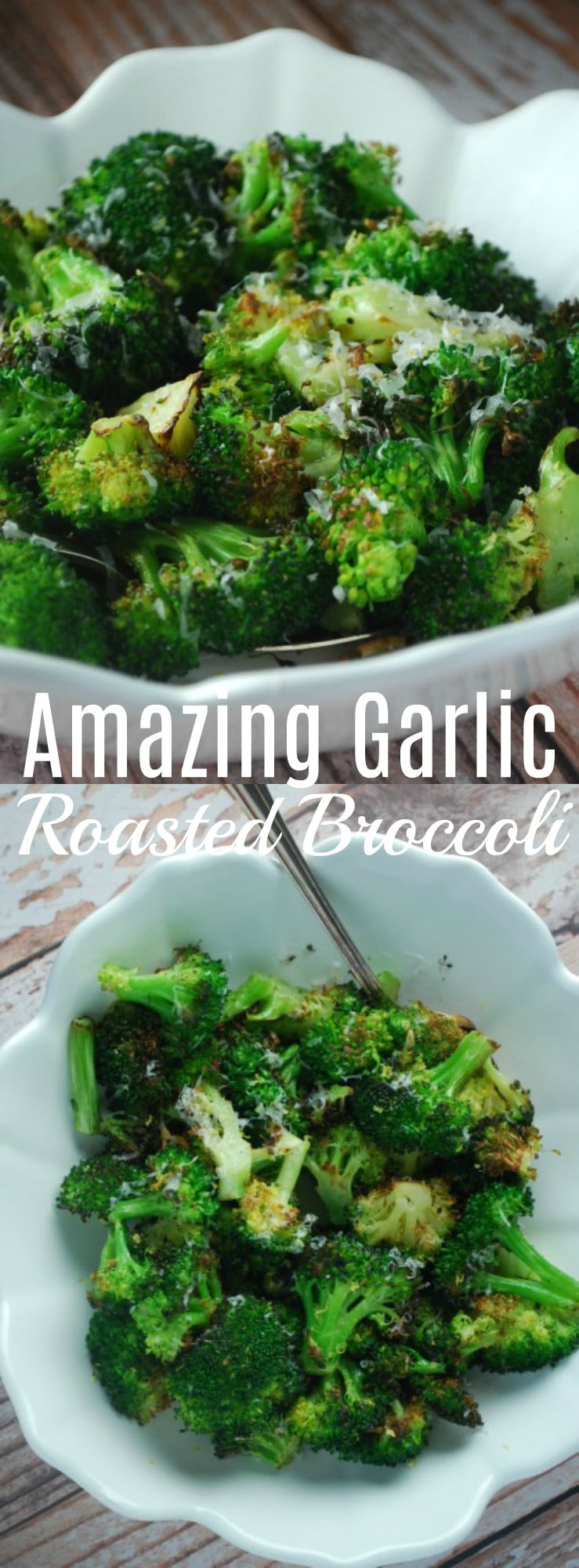 This simple roasted broccoli makes a fantastic and easy side dish that your family will love! Pairs great with everything! 