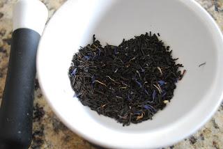 bowl of earl grey tea