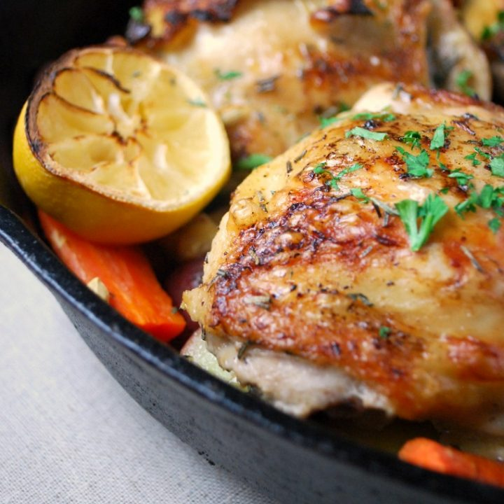 Rosemary Chicken with Lemon and Vegetables