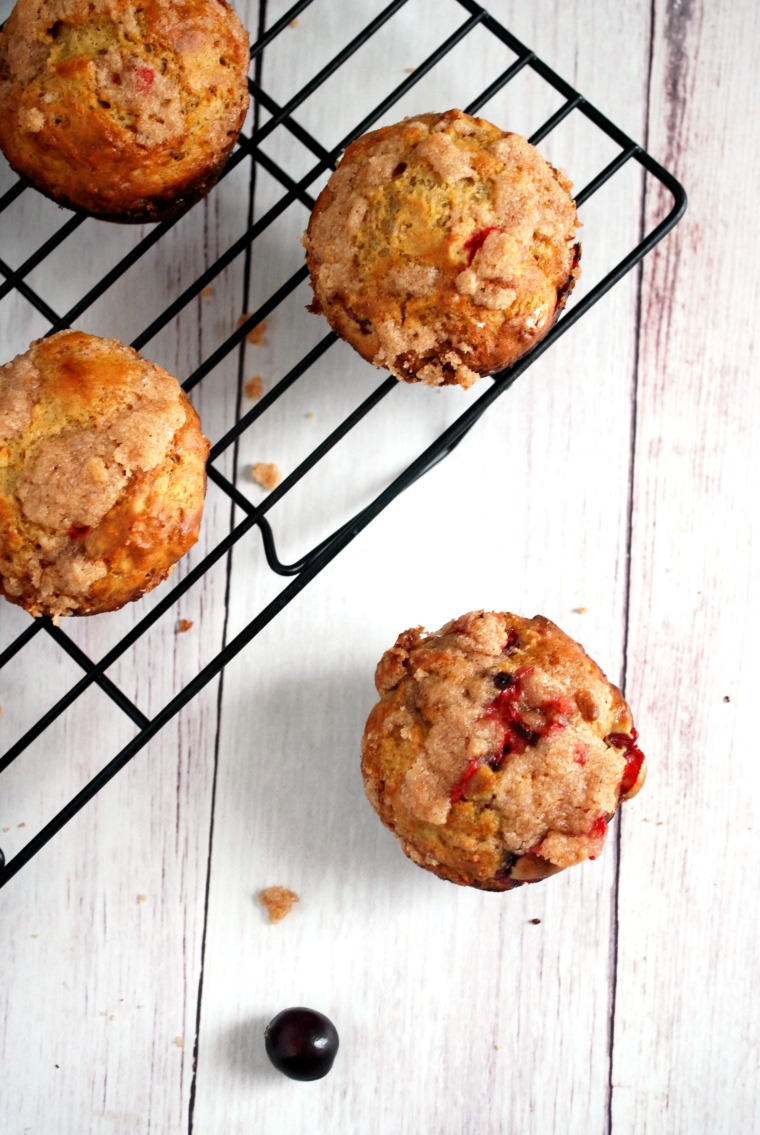 Orange Cranberry Streusel Muffin