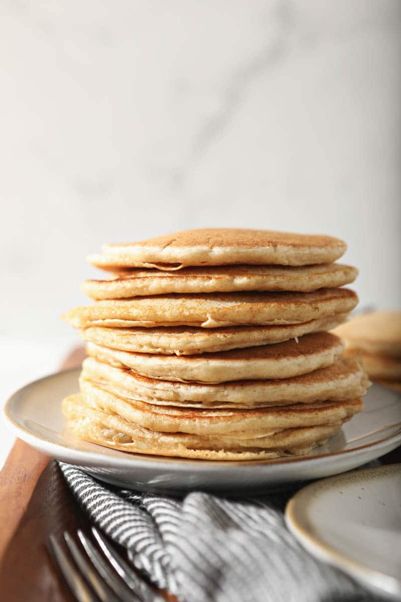 stack of sourdough pancakes