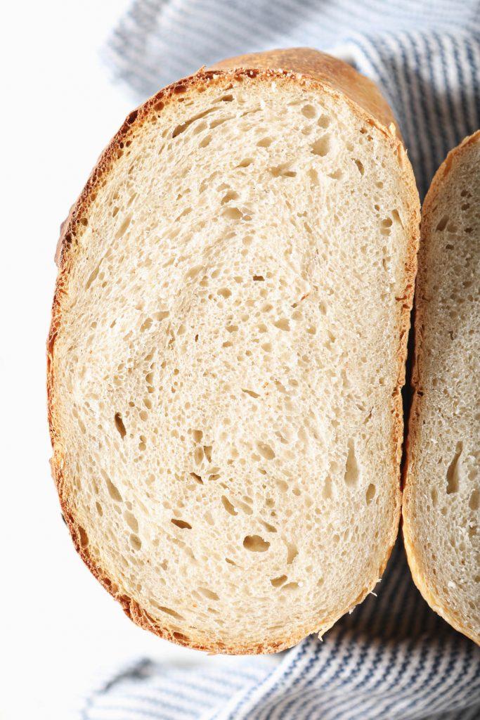 slice of san fransisco sourdough bread