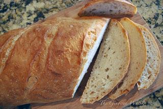 san fransisco sourdough bread sliced into slices