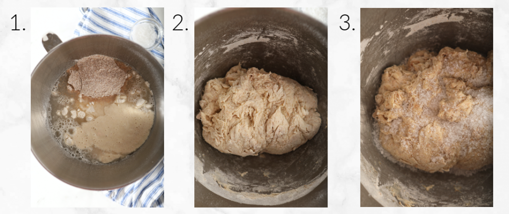 showing how to create dough and autolyse