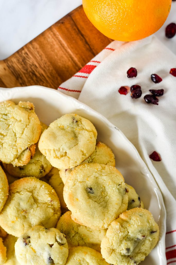 platter of cranberry orange cookies