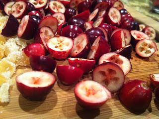 sliced fresh cranberries