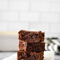 Double Chocolate Sourdough Brownies