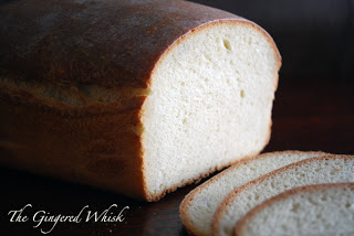 sourdough sandwich bread loaf with slices in front