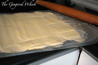 how to roll out dough for sourdough laminated dough