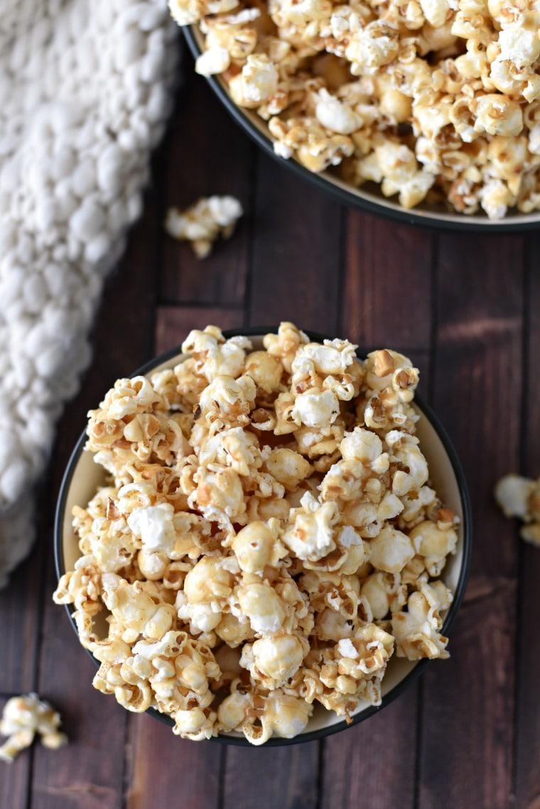Bowls of Peanut Butter Popcorn