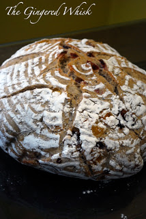 loaf of earl grey sourdough bread