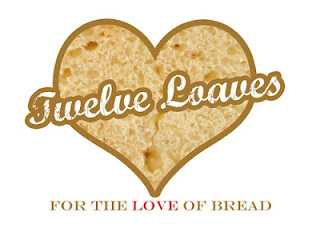 """image of heart with text reading \""""twelve loaves, for the love of bread\"""""""