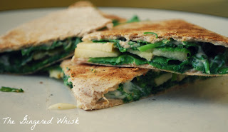 Apple, Brie, and Arugula Quesadilla