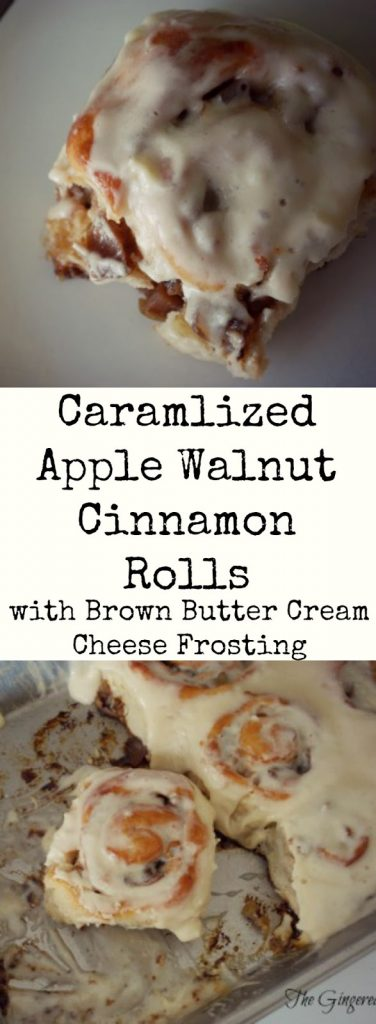 Caramelized Apple and Walnut Cinnamon Rolls