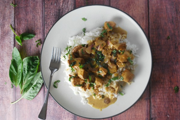 Basil Chicken with Coconut Cream Sauce - The Gingered Whisk