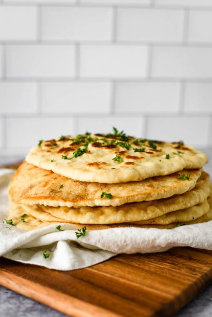 stack of sourdough naan