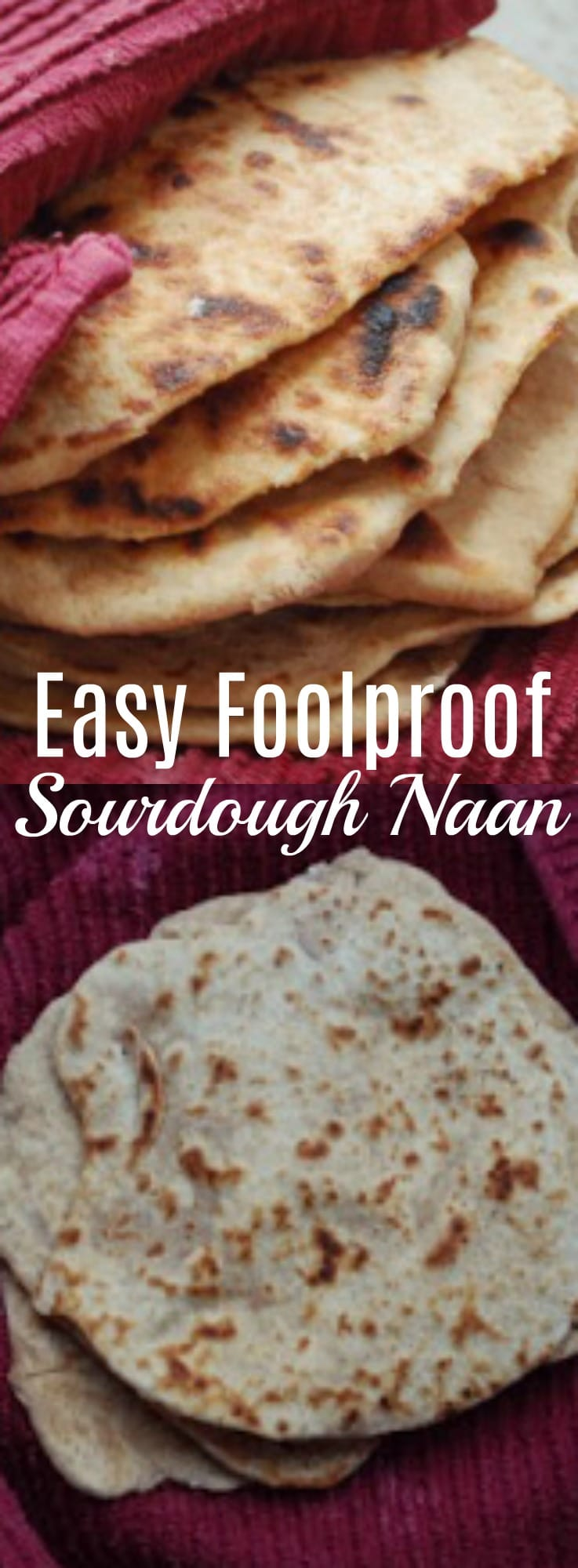 This sourdough naan recipe is so easy its foolproof! Delicious and flavorful naan is right around the corner with this great recipe! 