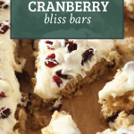 sourdough blondies recipe with text overlay of title