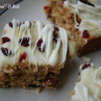 Sourdough Cranberry White Chocolate Blondies