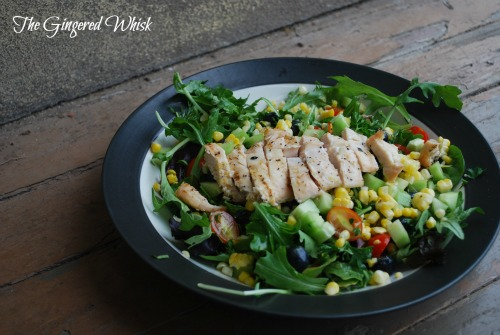 Grilled Chicken Salad with Lemon Vinaigrette