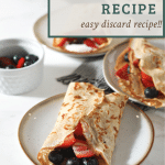 sourdough crepes with text overlay for pinterset