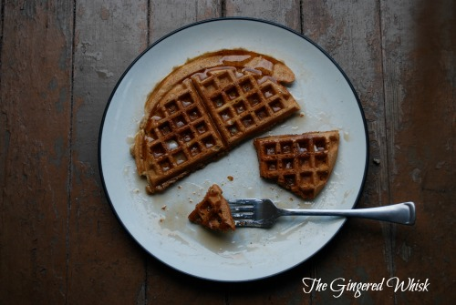 Apple Pie Sourdough Waffles