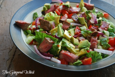 plate with southwest steak salad