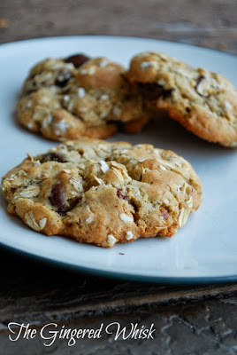 plate with three lactation cookies on it