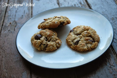 plate with three lactation cookies