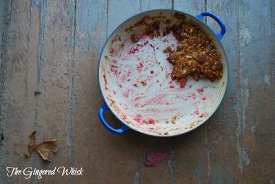 Apple Cranberry Crisp with Crispy Walnut Topping