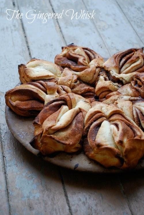 twisted cinnamon sweet bread close up