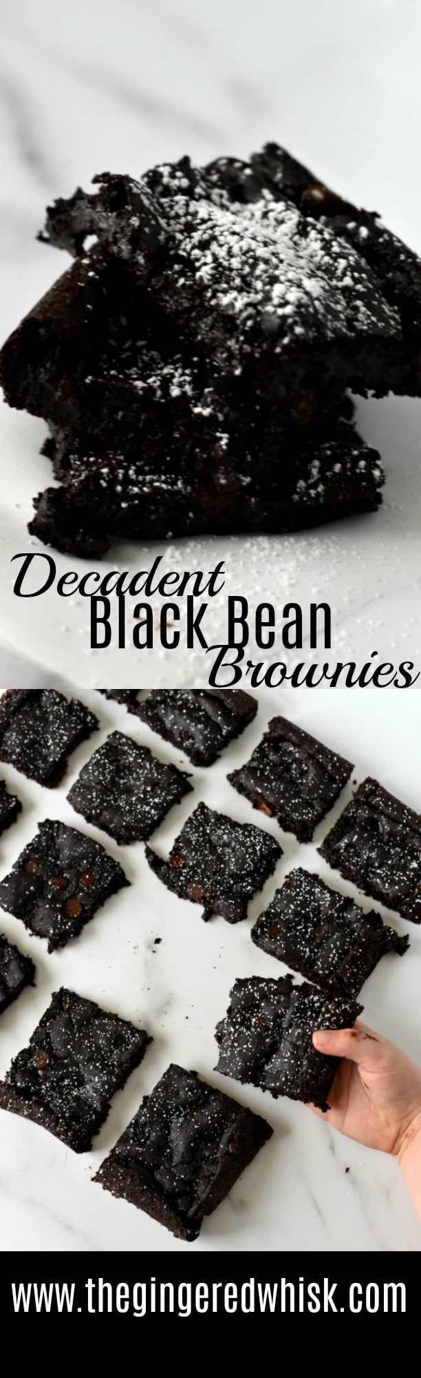 These brownies are decadent, rich, and moist. But surprise! There is no flour! Instead they are packed with protein rich black beans - and sooo delicious! 