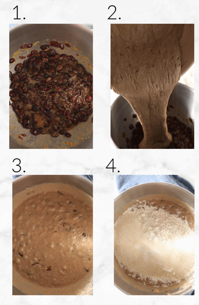 collage showing steps to make dough