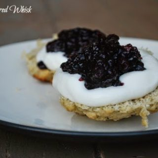 Lavender and Earl Grey Scones with Mock Devonshire Cream and Blueberry Preserves