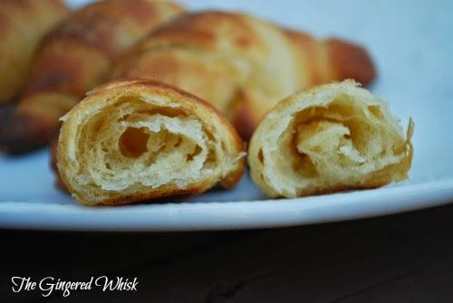 inside layers of sourdough croissant