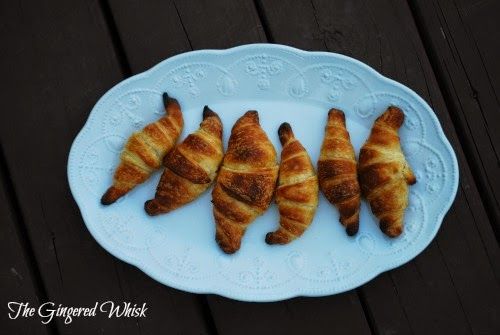 platter with sourdough croissants