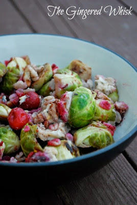 Roasted Brussel Sprouts with Cranberries and Barley