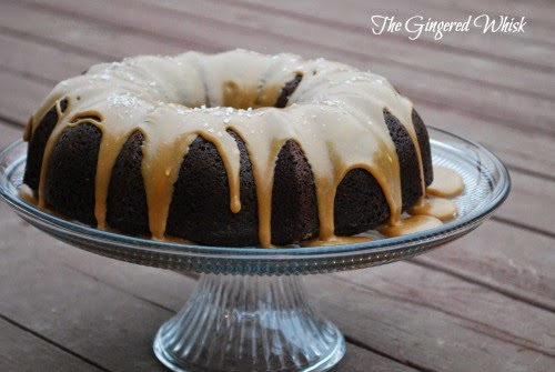 Guinness Chocolate Cake Recipe with Salted Caramel Icing (The Gingered Whisk)