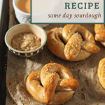 sourdough pretzels with text overlay