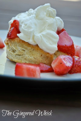 Strawberry Shortcake with Thyme Sourdough Biscuits (The Gingered Whisk)