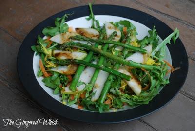 Spring Arugula Salad (The Gingered Whisk)