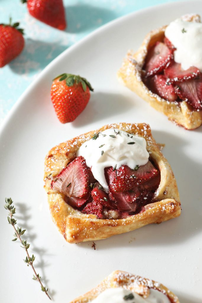 sourdough galette with strawberries