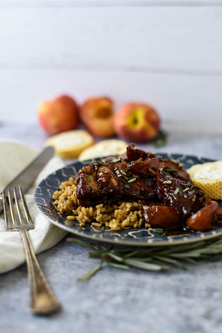 braised chicken with brown rice