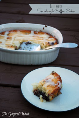 Sourdough Blueberry Coffee Cake (The Gingered Whisk)