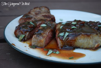 Whiskey Bacon Steak Glaze (The GIngered Whisk)
