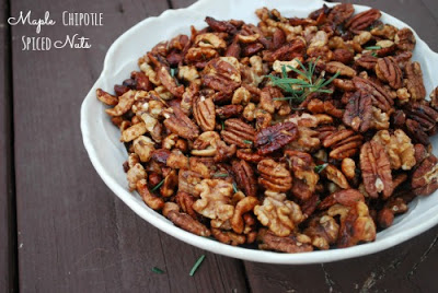 roasted nut mix in white bowl