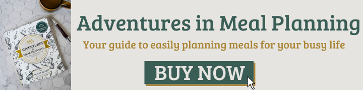 photo of meal planning book with buy now button